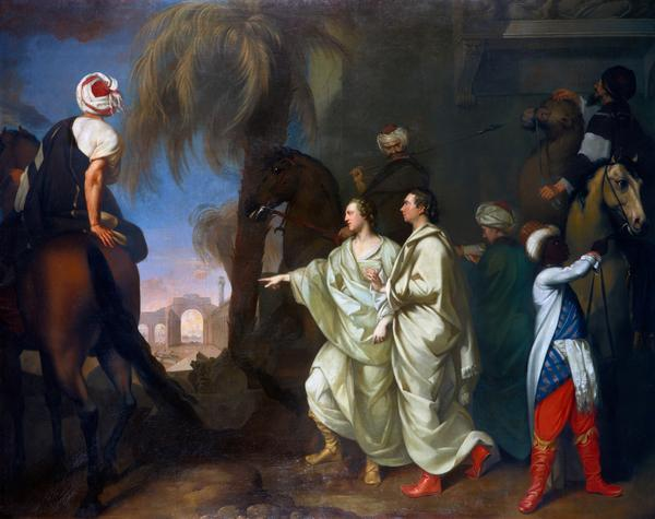 James Dawkins and Robert Wood Discovering the Ruins of Palmyra (Dated 1758)