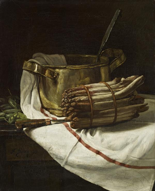 Still-life with Asparagus (Dated 1881)