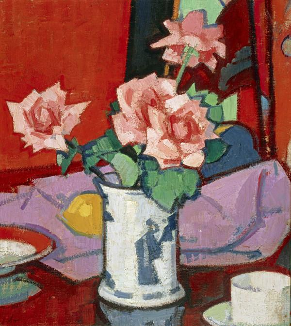 Pink Roses, Chinese Vase (About 1916 - 1920)