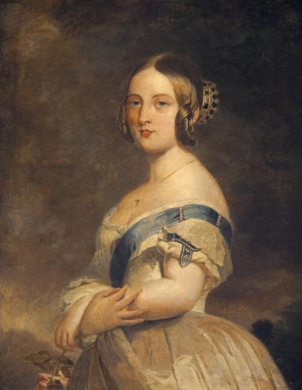 Queen Victoria, 1819 - 1901. Reigned 1837 - 1901. (1840)