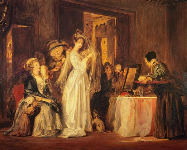 The Bride at her Toilet on the Day of her Wedding (Dated 1838)