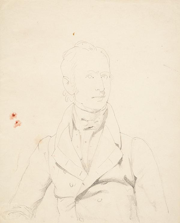 Sketch of Unknown Gentleman (sheet 2 on recto) (1807 - 1835)