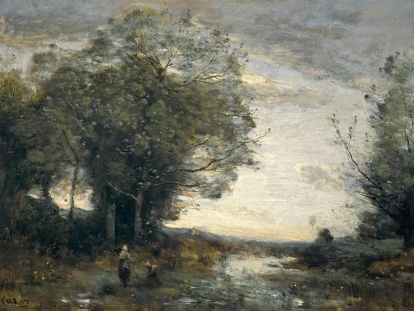 Souvenir of the Environs of La Ferté-sous-Jouarre (Morning) (About 1865 - 1870)