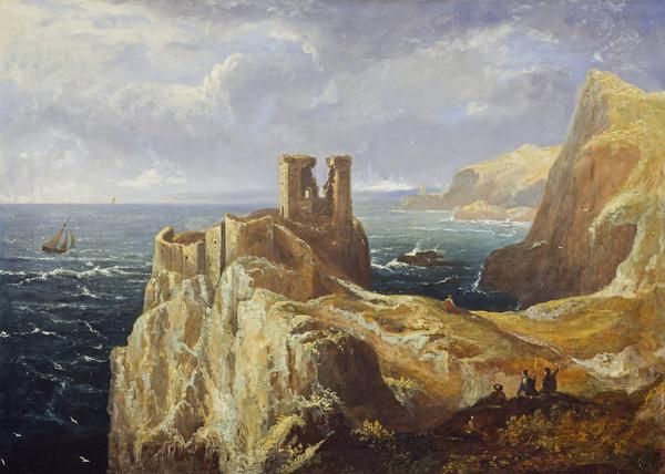 Fast Castle from above (1823)