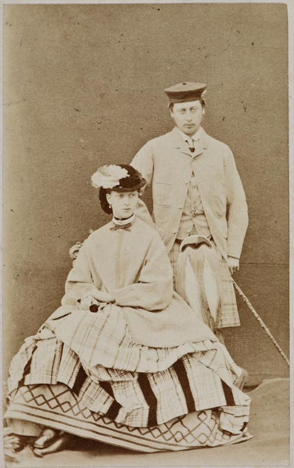 The Prince and Princess of Wales (later Edward VII, 1841 - 1910, and Alexandra, 1844 - 1925) (August 1863)