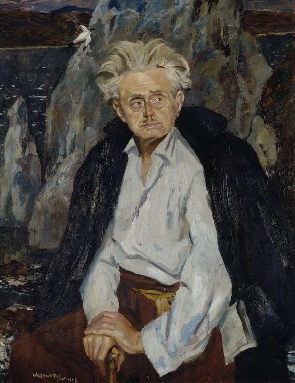 Christopher Murray Grieve (pen name, 'Hugh MacDiarmid'), 1892 - 1978. Poet (1962)