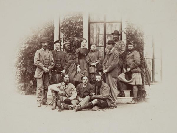 Mar Lodge, a group of visitors to the Braemar Gathering (August 1863)