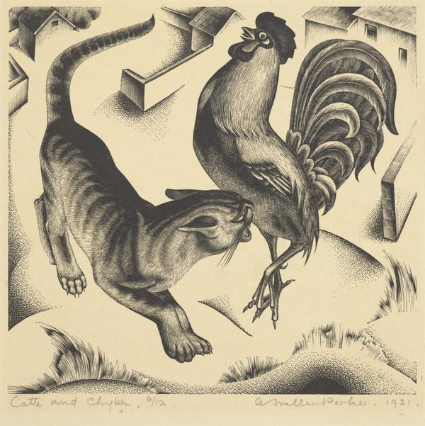 Catte and Chyken (for 'The Fables of Esope') (Dated 1931)