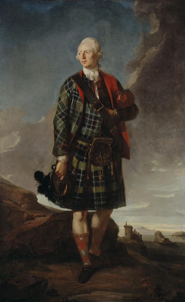 Sir Alexander Macdonald, 1744 - 1795. 9th Baronet of Sleat and 1st Baron Macdonald of Slate (About 1772)
