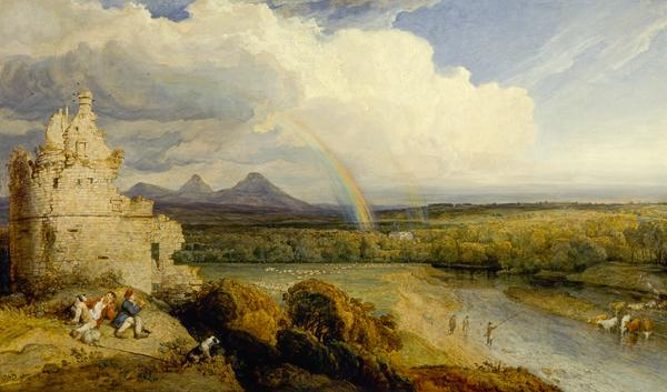 The Eildon Hills and the Tweed (Dated 1807)