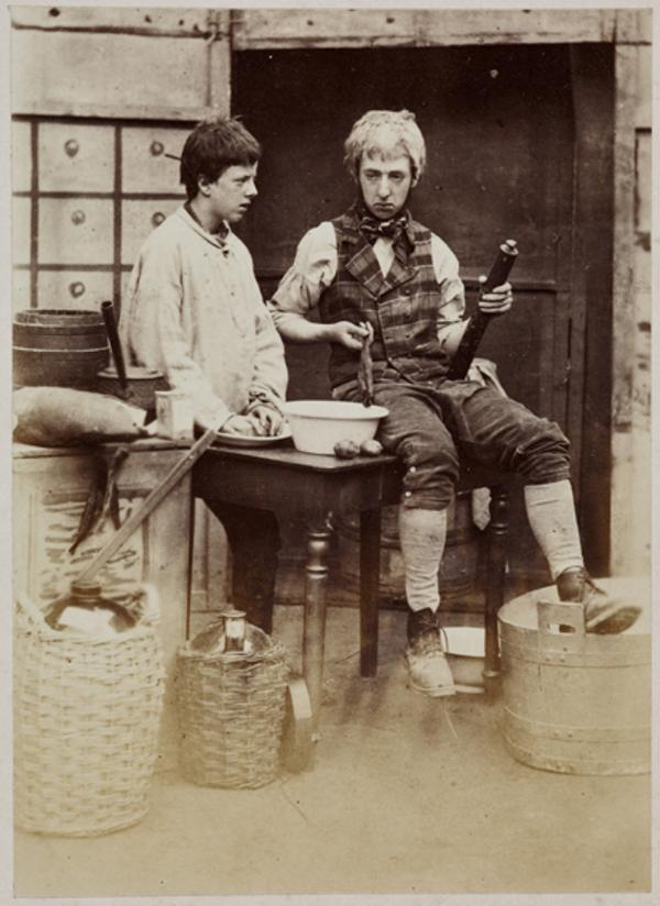 Viscount Macduff and the Hon. Lewis Wingfield as Joey and John Grumley, for the play 'Domestic Economy' (1 September 1863)