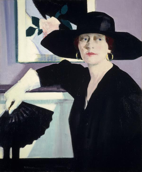Portrait of a Lady in Black (About 1921)