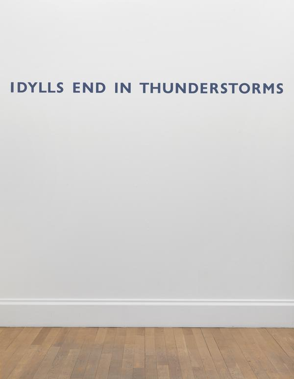 IDYLLS END IN THUNDERSTORMS
