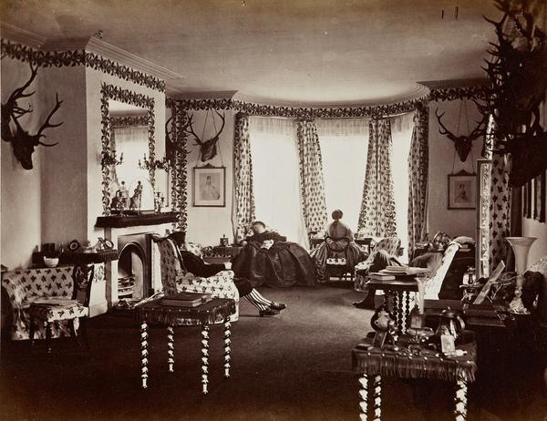 Interior of the Drawing Room, Mar Lodge (August or September 1863)