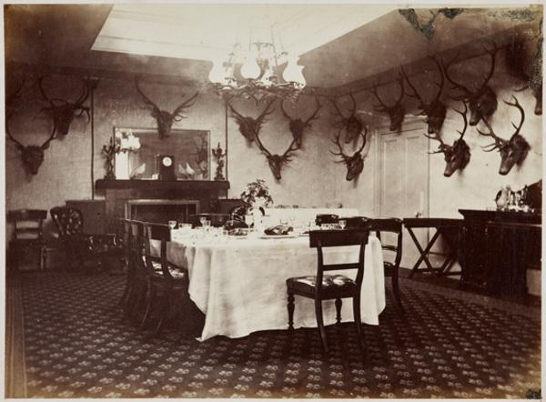 Interior of the Dining Room, Mar Lodge (August or September 1863)
