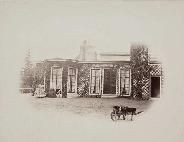 The Exterior of the Smoking Room and Drawing Room, Mar Lodge (August or September 1863)