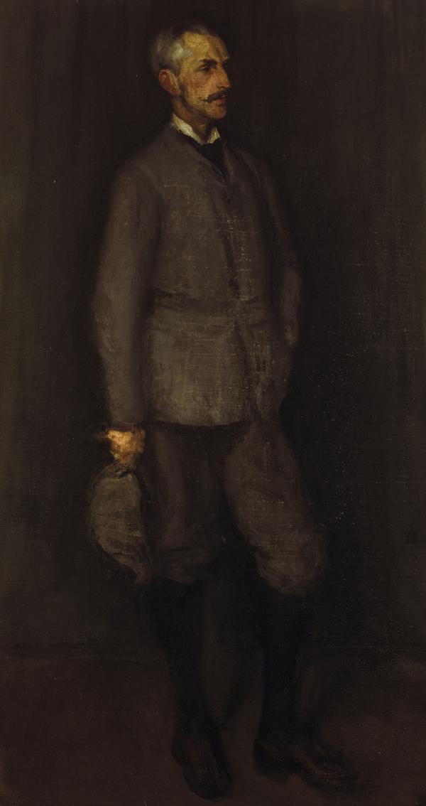 An Arrangement in Grey and Green. Portrait of John James Cowan (1846 - 1936) (begun 1893)