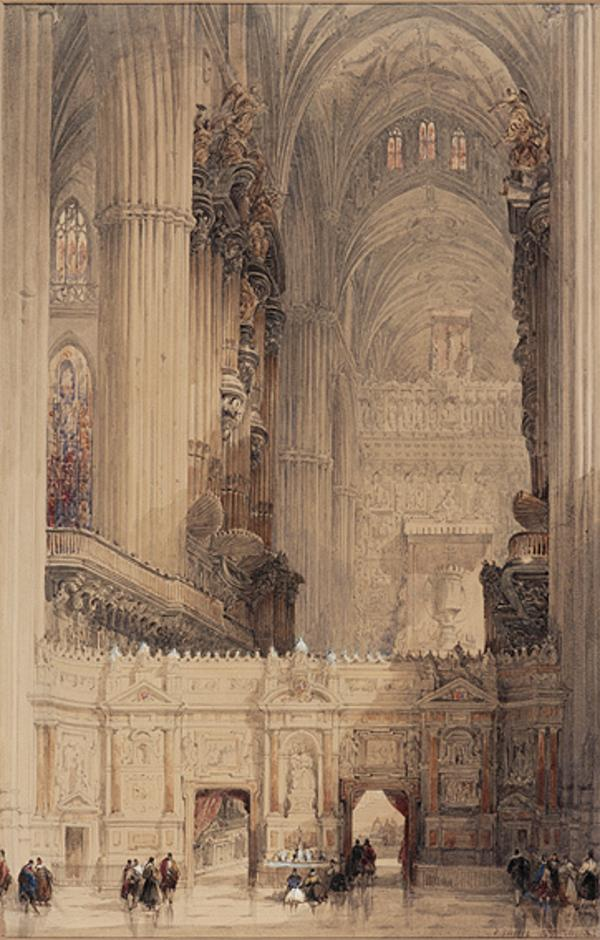 Interior of Seville Cathedral (1837)