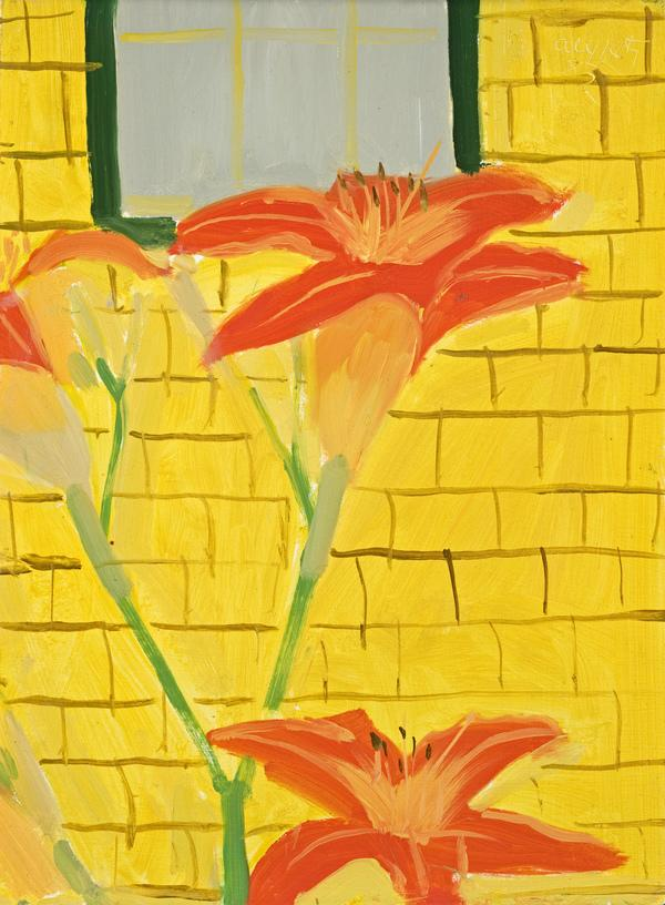 Lilies Against Yellow House (1983)