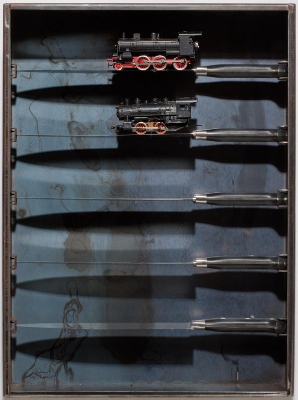 Untitled (Knife and Train) (2002)