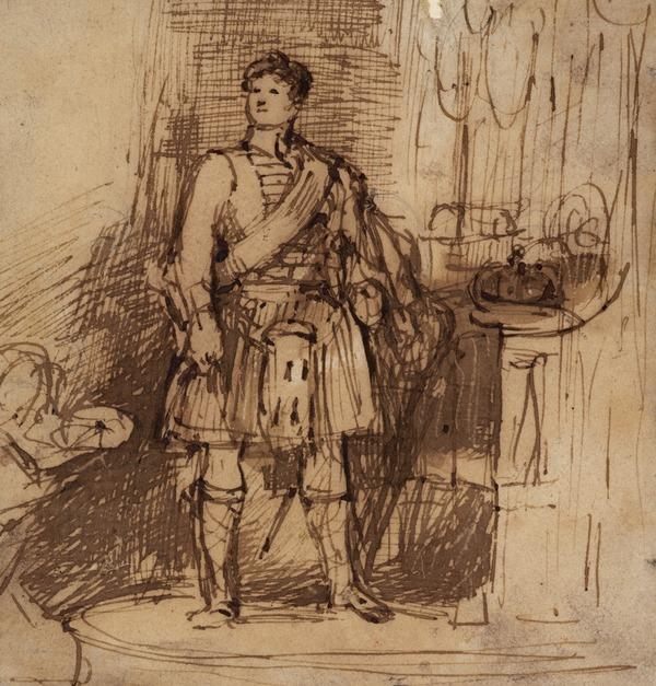 Study of George IV in Highland Dress