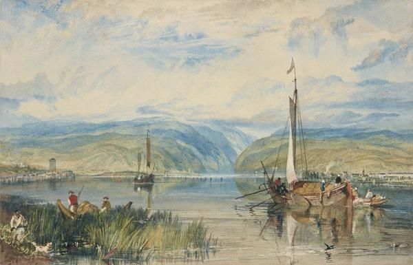 Neuwied and Weise Thurn, with Hoch's Monument on the Rhine, looking towards Andernach (About 1819)