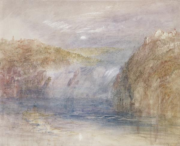 Falls of the Rhine at Schaffhausen, Moonlight (1841)