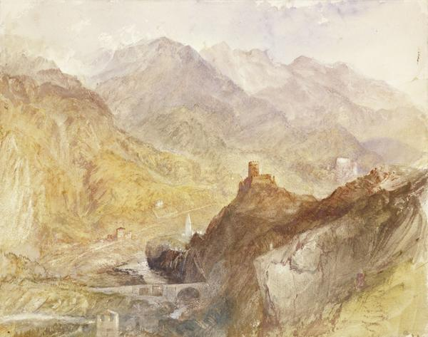 Chatel Argent, in the Val d'Aosta, near Villeneuve (after 1836)