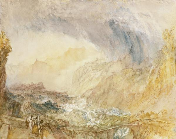 The St Gothard Pass at the Devil's Bridge