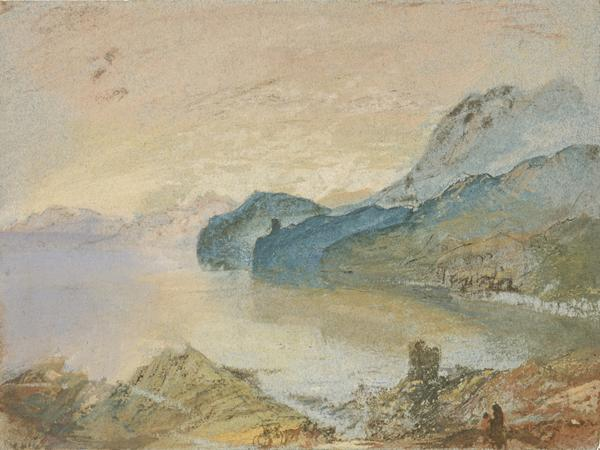 Lake Como looking towards Lecco (About 1828)