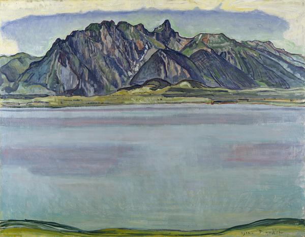 Lake Thun and the Stockhorn Mountains (1910)