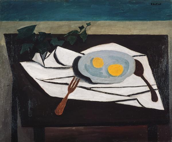 Still Life - Lemons on a Plate, 1948 (1948)
