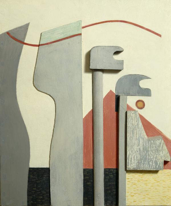 Ohne Titel (Relief mit roter Pyramide) [Untitled (Relief with Red Pyramid)] (About 1927 - 1930)