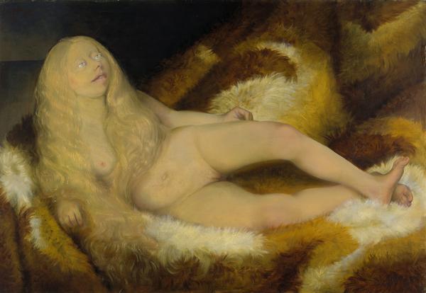 Mädchen auf Fell [Nude Girl on a Fur] (1932)