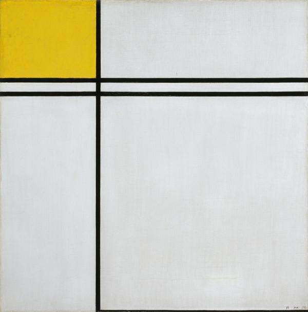 Composition with Double Line and Yellow, 1932 (1932)