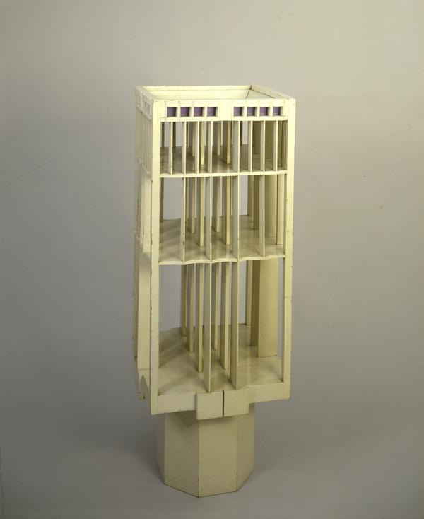Revolving Bookcase for Hous'hill, Nitshill, Glasgow (1904)