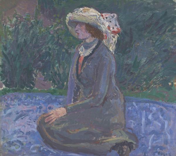 Mrs Spencer Frederick Gore in the Garden of Rowlandson House