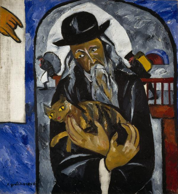 Rabbi with Cat (About 1912)