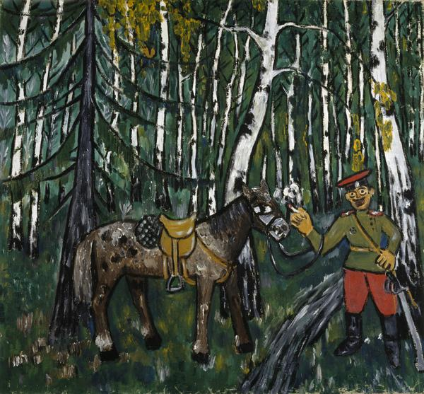 Soldier in a Wood (About 1911)