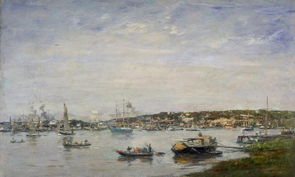 The Port of Bordeaux (Dated 1874)