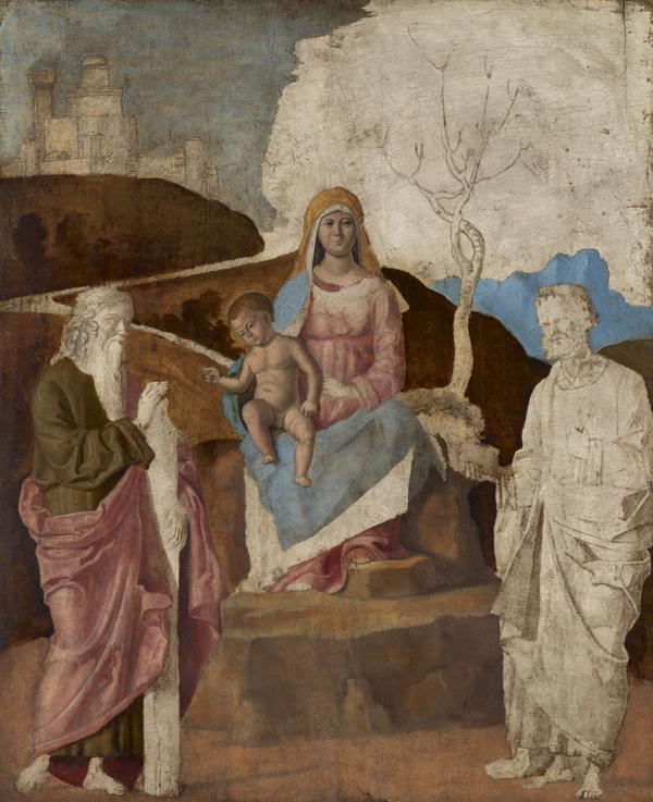 The Virgin and Child with Saint Andrew and Saint Peter (unfinished) (late 15th or early 16th century)