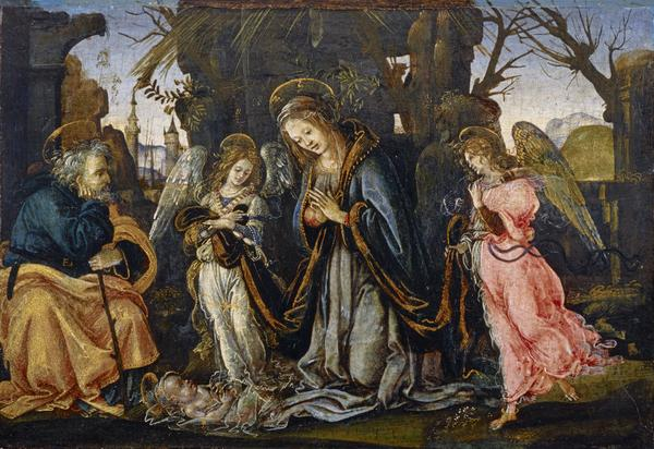 The Nativity with Two Angels (possibly early 1490s)