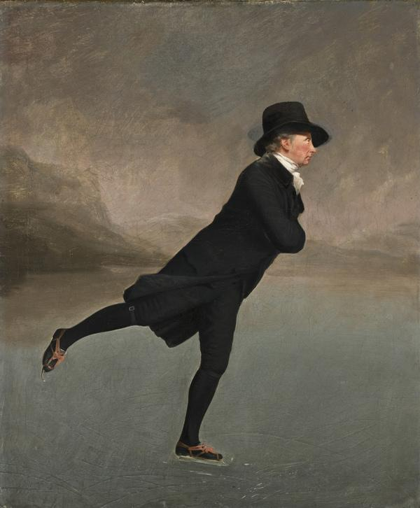 Reverend Robert Walker (1755 - 1808) Skating on Duddingston Loch (About 1795)