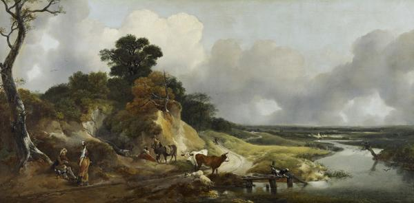 Landscape with a View of a Distant Village (Late 1740s or early 1750s)