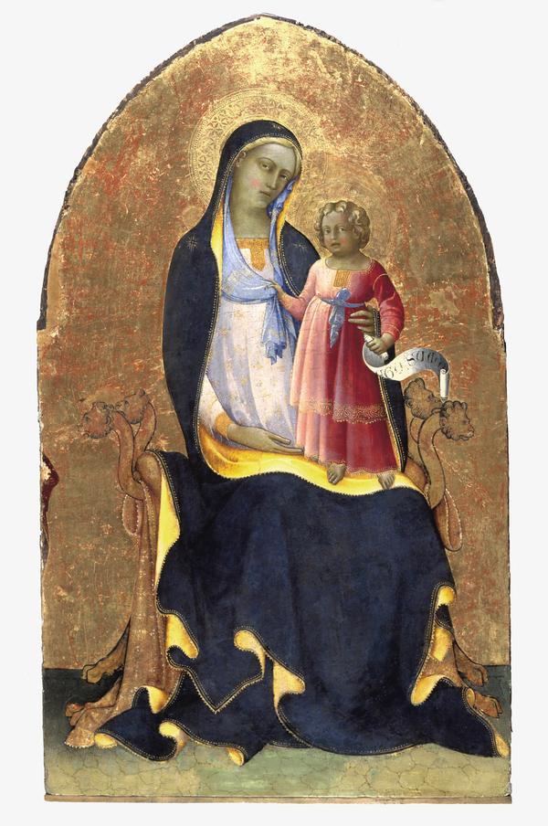 The Virgin and Child Enthroned (About 1418)