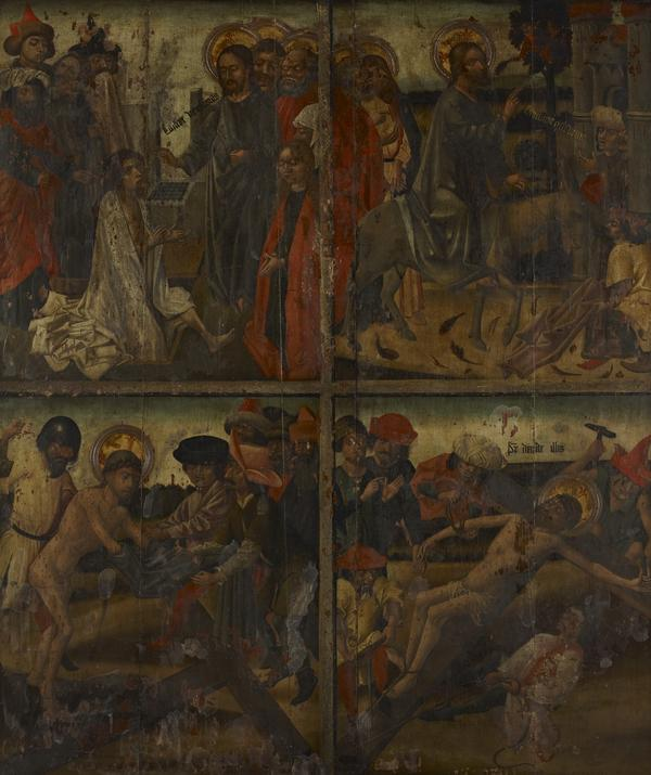 Twenty Scenes from the Life of Christ [scenes 1 and 2 above; scenes 11 and 12 below] (15th century)