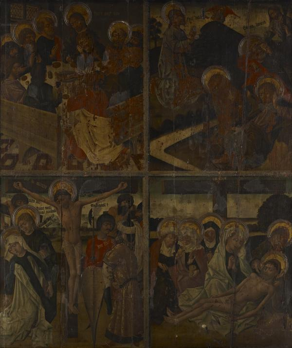 Twenty Scenes from the Life of Christ [scenes 3 and 4 above; scenes 13 and 14 below] (15th century)