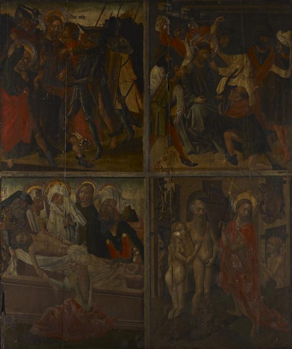 Twenty Scenes from the Life of Christ [scenes 5 and 6 above; scenes 15 and 16 below] (15th century)