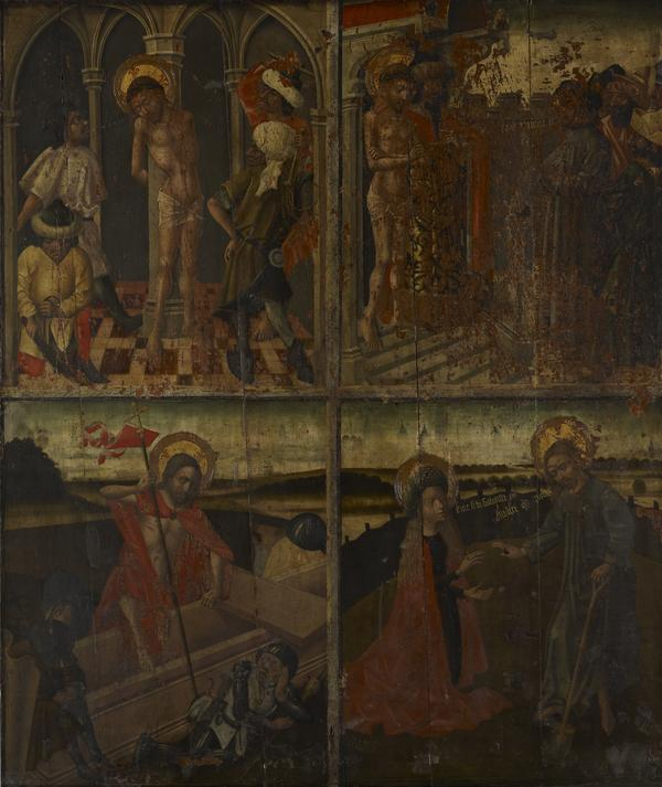 Twenty Scenes from the Life of Christ [scenes 7 and 8 above; scenes 17 and 18 below] (15th century)