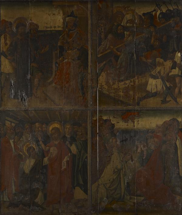 Twenty Scenes from the Life of Christ [scenes 9 and 10 above; scenes 19 and 20 below] (15th century)